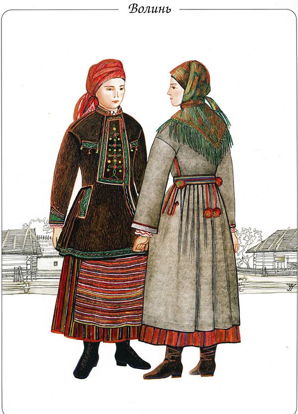 Традиційний костюм для жителів Волині