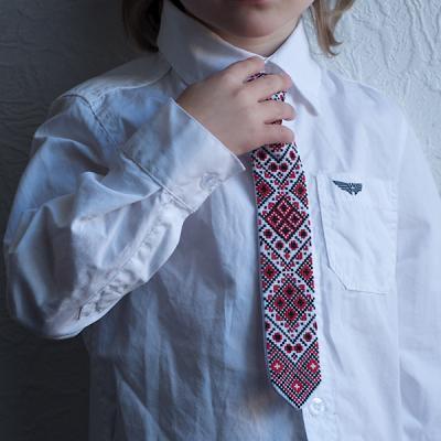 """Краватка для хлопчика """"Червоно-чорні ромби"""""""