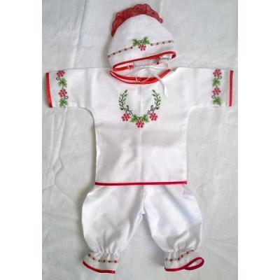 """Вишитий костюм для немовляти """" Калинова гілочка""""."""