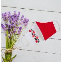"""🌹Вишита жіноча маска """"Червона троянда"""".🌹 (kolos382)"""